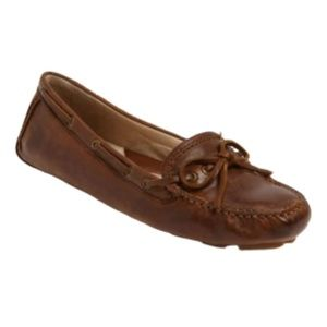 Frye Boots Reagan Campus Driver Flats Brown Size 6